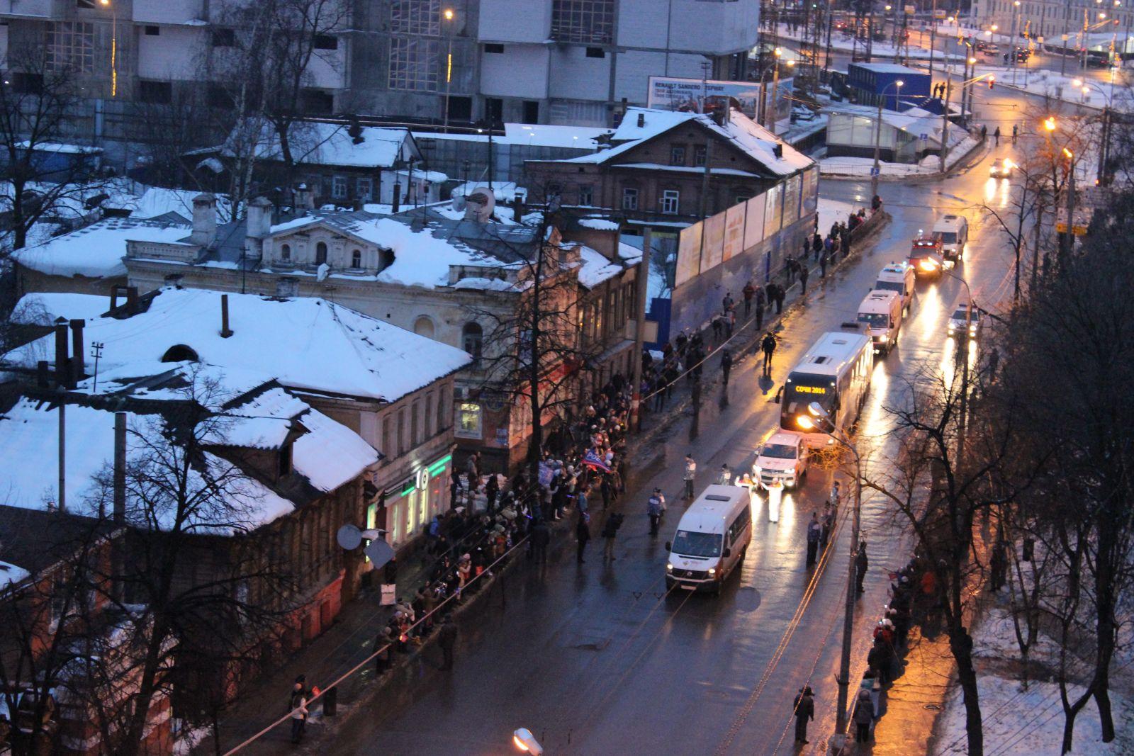 Эвакуация автомобилей в Нижнем Новгороде перед Эстафетой Олимпийского Огня