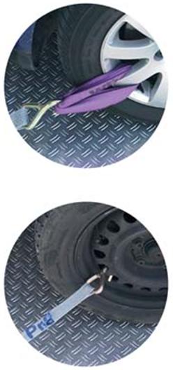Второй способ крепления колес на эвакуаторе
