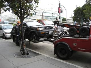 Эвакуация автомобилей в Сан-Франциско